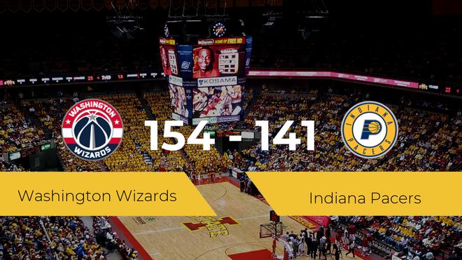 Victoria de Washington Wizards ante Indiana Pacers por 154-141