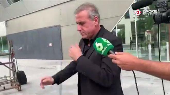 André Cury y Pini Zahavi, cazados a la salida de la cumbre Barça-PSG