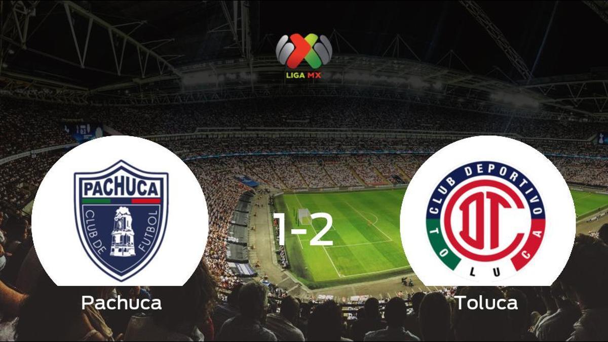 El Toluca deja sin sumar puntos al Pachuca (1-2)