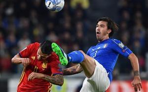 Romagnoli debutó con la selección frente a España.