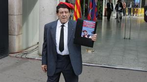 Ferran Estrada, siempre con su inseparable barretina, en una imagen de 2010