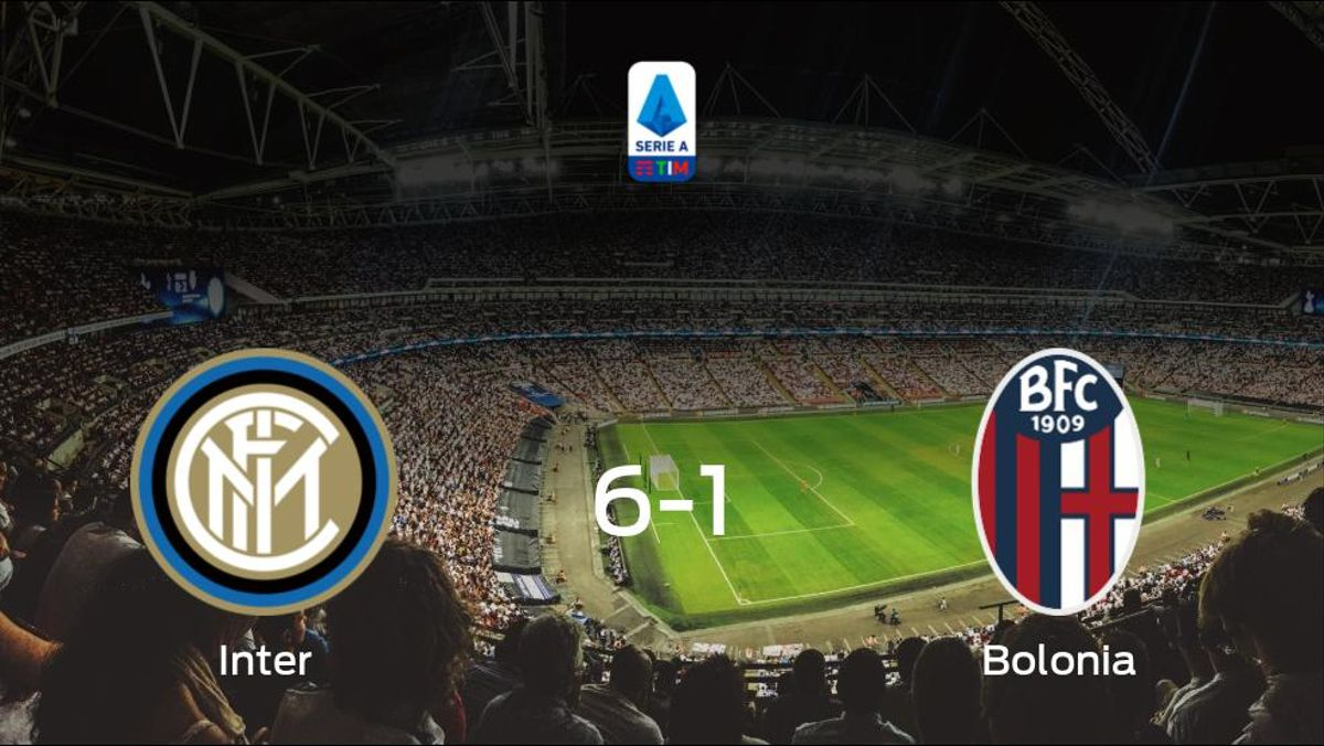 El Inter se queda con los tres puntos frente al Bolonia (6-1)