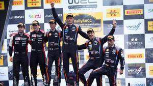 El podio de la 56º del Rally RACC Cataluña