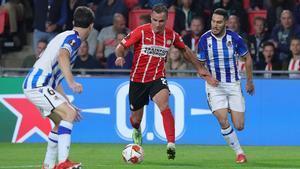 Götze marcó el primer gol ante la Real Sociedad