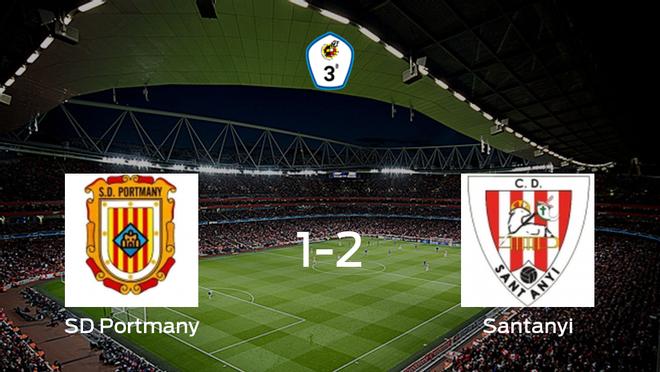 El Santanyi se lleva la victoria tras derrotar 1-2 a la SD Portmany