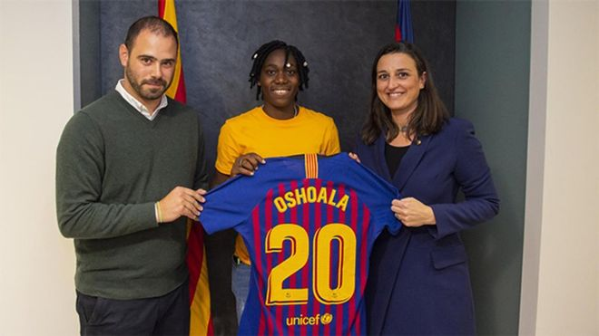 Oshoala, nueva jugadora del Barça