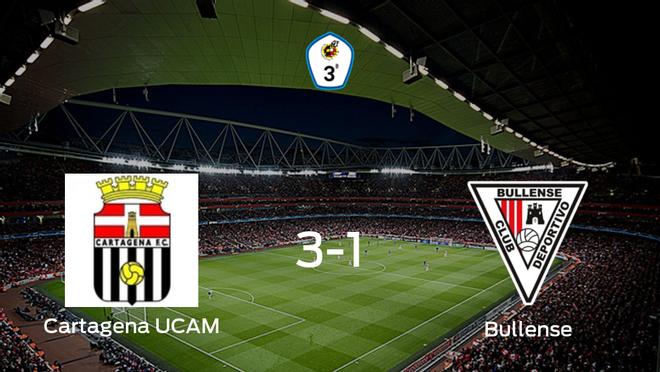 El Cartagena F.C. UCAM vence 3-1 frente al CD Bullense