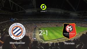 Tres puntos para el equipo local: Montpellier 2-1 Stade Rennes