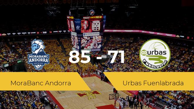 El MoraBanc Andorra logra derrotar al Urbas Fuenlabrada (85-71)