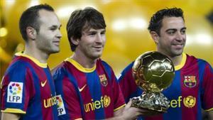 El podio del Balón de Oro de 2010 fue exclusivamente azulgrana