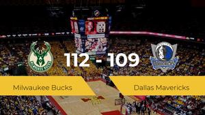 Milwaukee Bucks gana a Dallas Mavericks (112-109)