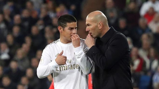 Zidane dio la titularidad a James en San Sebastián