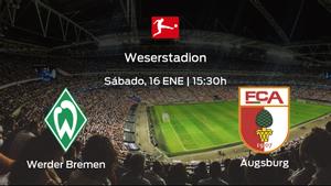 Previa del encuentro de la jornada 16: Werder Bremen contra FC Augsburg