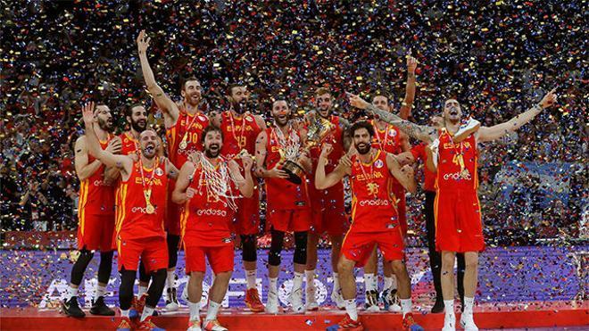 La selección española de baloncesto, campeona del Mundo