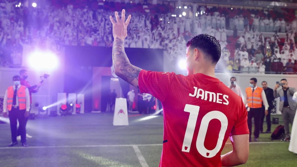 James Rodríguez, en su actual club, el Al Rayyan