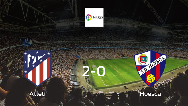Atletico Madrid take all 3 points, after 2-0 victory against Huesca
