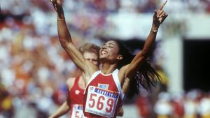 Florence Griffith, en 1998