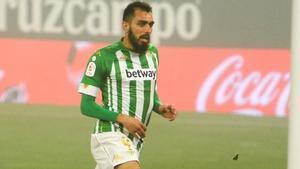 Borja Iglesias, delantero centro del Real Betis