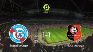 El Racing Estrasburgo y el Stade Rennes firman tablas en el Stade de La Meinau (1-1)