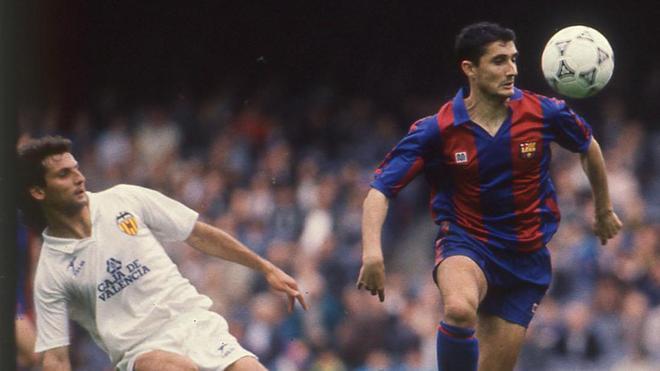 Ernesto Valverde jugó 29 partidos en el FC Barcelona entre 1988 a 1990