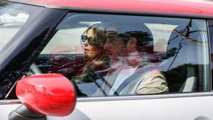 Sergi Roberto llega a casa de Messi con su pareja