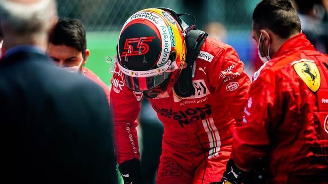 Sainz, tras la carrera