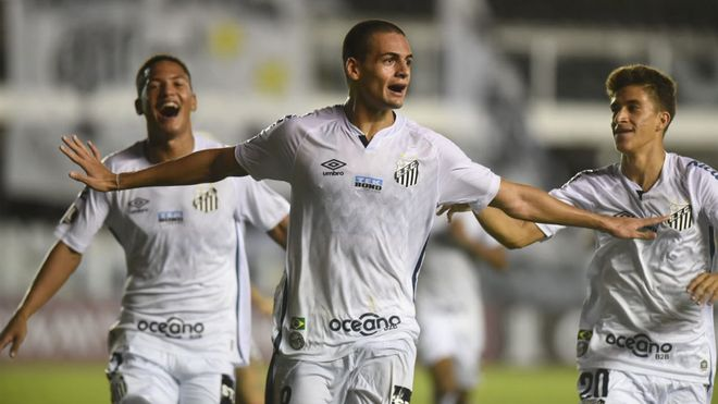 Kaiky celebra su histórico gol en la Libertadores