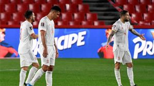 Los jugadores de España, durante el partido de clasificación al Mundial ante Grecia.