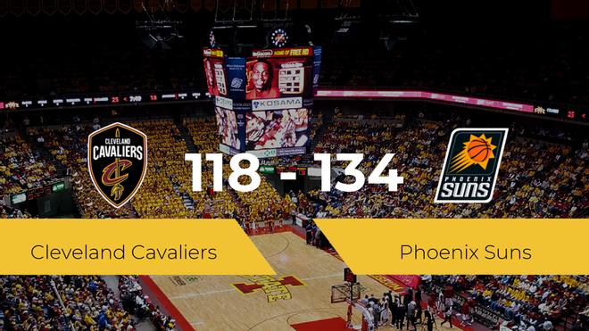 Phoenix Suns logra ganar a Cleveland Cavaliers (118-134)