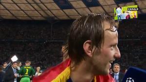Rakitic, emocionado por su gol