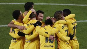 El 1x1 del Barça al descanso en San Mamés