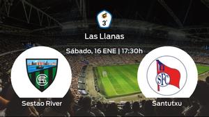Jornada 13 de la Tercera División: previa del partido Sestao River - Santutxu