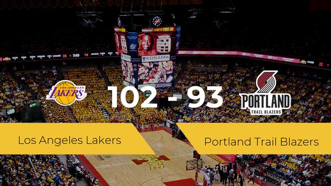 Los Angeles Lakers se lleva la victoria frente a Portland Trail Blazers por 102-93