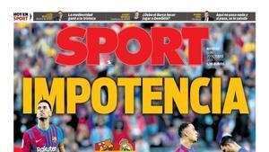 Impotencia, la portada del 25 de octubre