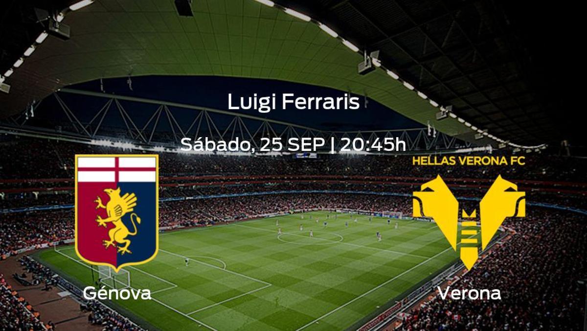 Previa del encuentro: el Génova recibe al Hellas Verona