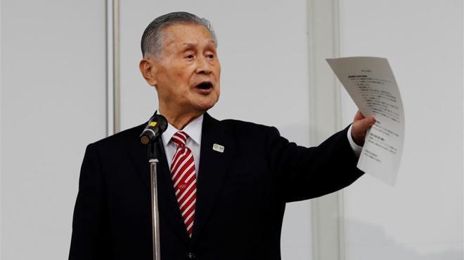 Yoshiro Mori, en un parlamento sobre los Juegos Olímpicos de Tokio 2020