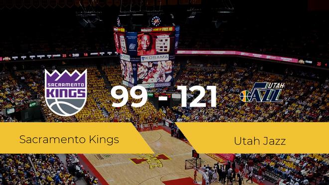 Utah Jazz se impone por 99-121 frente a Sacramento Kings