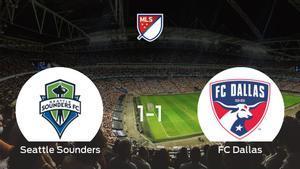 El Seattle Sounders y el FC Dallas concluyen su encuentro liguero con un empate (1-1)