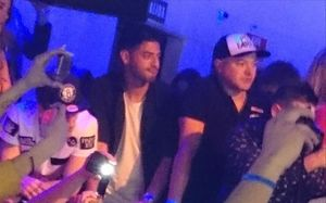 Vela, en Madrid, durante el concierto de Chris Brown