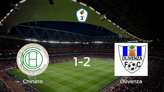 El Olivenza suma tres puntos a su casillero frente al Chinato (1-2)