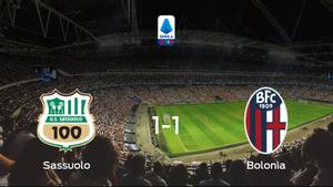 El Sassuolo y el Bolonia empatan a uno en el Estadio Mapei