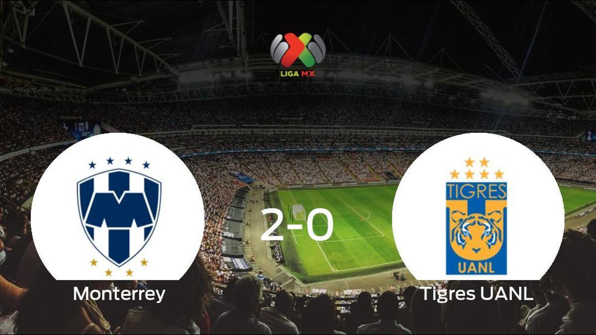 El Monterrey se lleva tres puntos tras derrotar 2-0 al Tigres UANL