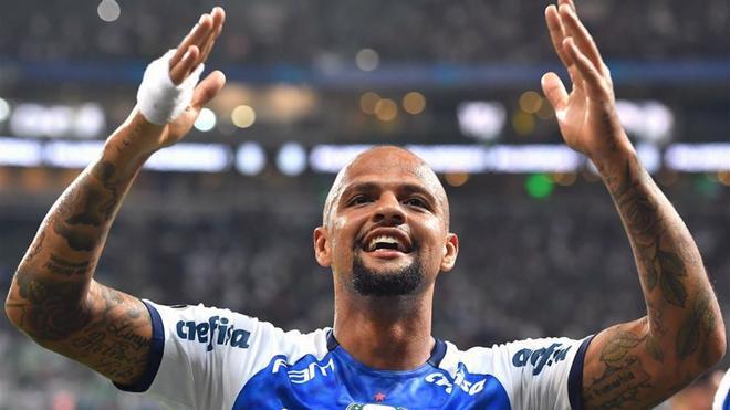 Felipe Melo juega en el Palmeiras a sus 36 años