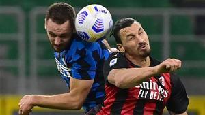 El sueco fue decisivo en la victoria del Milan sobre el Inter (1-2) con dos goles