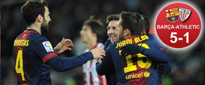 El Barça goleó 5-1 al Athletic Club