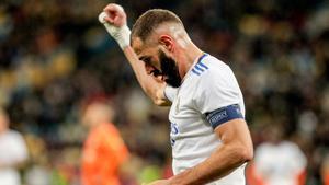 Benzema anotó el quinto gol del Real Madrid en Kiev