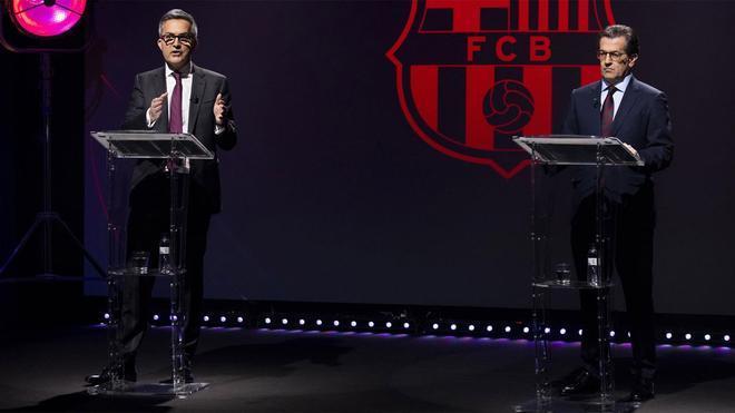 Víctor Font y Toni Freixa, durante un debate electoral