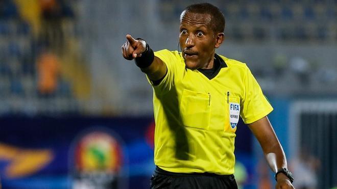 Bamlak Tessema durante las semifinales de la Africa Cup of Nations de 2019