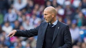 Zinedine Zidane, entrenador del Madrid