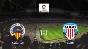 El Sabadell y el Lugo reparten los puntos tras empatar a uno